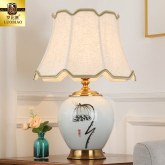 New Chinese style bedroom nightstand table lamp creative adjustable light warm light of modern home living room luxury ceramic lamps and lanterns
