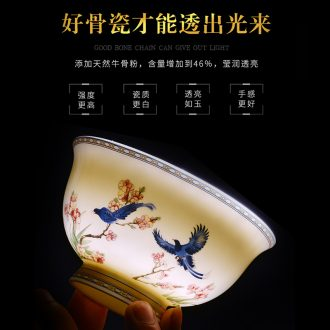 Bone China tableware dishes suit household eat jingdezhen ceramic rainbow noodle bowl dish bowl combination bulk Chinese dishes