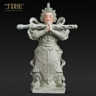 Better sealed kiln jingdezhen furnishing articles WeiTuo bodhisattva figure household ceramics handicraft Buddha sculpture