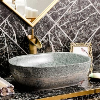 On the ceramic sanitary ware art creative contracted toilet lavabo oval home home outfit the pool that wash a face basin
