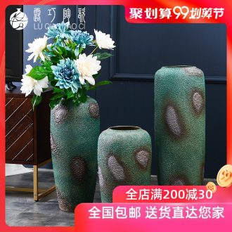 Lou qiao jingdezhen ceramic big vase furnishing articles sitting room Europe type restoring ancient ways large landing simulation flower bottle