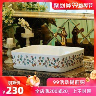 Rain izumidai basin ceramic lavatory household basin on the rectangle European toilet lavabo art the basin that wash a face