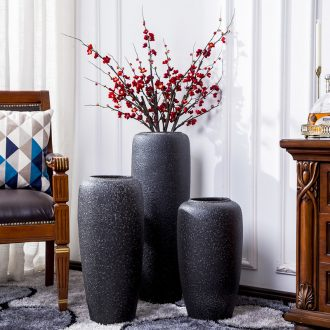 Jingdezhen ceramic big vase landed Nordic contemporary and contracted, dried flowers flower arrangement sitting room adornment is placed POTS restoring ancient ways