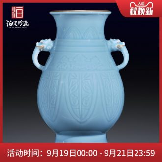 Jingdezhen ceramics imitation qing qianlong vase furnishing articles furnishing articles sitting room TV ark the collection of Chinese style household decorations