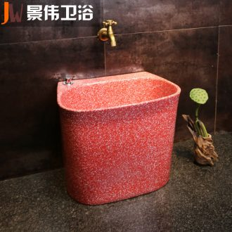 JingWeiHong obsidian art wash mop pool home floor mop pool bathroom ceramic mop pool balcony