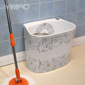 Million birds mop pool of jingdezhen ceramic mop pool under the mop bucket mop pool pond sewage pool mop bucket