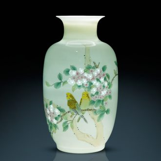 Jingdezhen ceramics master hand knife clay powder enamel vase Chinese sitting room adornment penjing collection gifts
