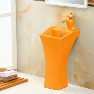 Ceramic lavabo lavatory kindergarten children color floor one-piece pillar basin children cartoon basin