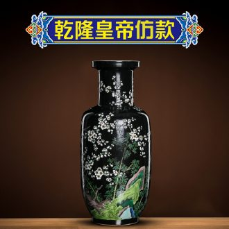 Better sealed kiln jingdezhen ceramic vases, new Chinese style furnishing articles retro nostalgia show bottles of rich ancient frame the sitting room is black
