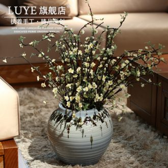Jingdezhen pottery vase hotel Chinese ground ceramic pottery vase restoring ancient ways creative flower arranging furnishing articles in the living room