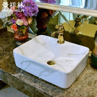 Jingdezhen art stage basin of modern ceramic grain sink bowl rectangle bathroom sinks marble