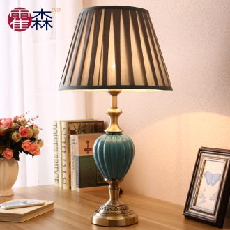 Contemporary and contracted light sweet adjustable light ceramic desk lamp of bedroom the head of a bed creative warm light lamp of desk lamp sitting room adornment