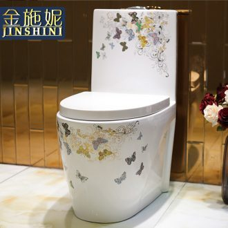 Gold cellnique Siamese toilet implement mute odor-proof wei yu household ceramic water saving toilet implement