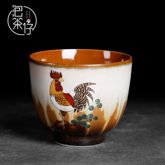 Tea seed jingdezhen hand-painted kiln master cup of ceramic tea individual cup large pure manual a single large cups