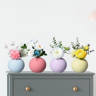 Ball floret bottle of flower arranging the Nordic circular dried flowers sitting room adornment creative ceramic table household act the role ofing is tasted furnishing articles