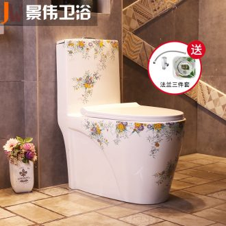 Household color ceramic toilet implement sit lavatory ordinary adult sanitary ware toilet implement siphon type