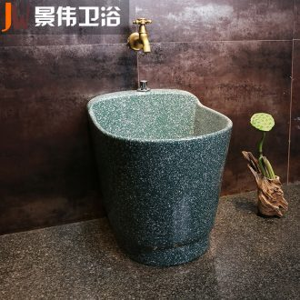 JingWei ceramic mop mop pool balcony toilet bath home floor mop pool floor mop basin
