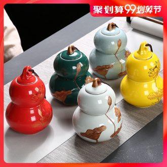 Hong bo acura elder brother kiln sealing caddy household gourd tea pot store content box creative ceramic tea set packing box
