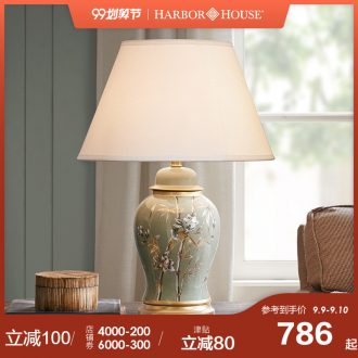 Booking 9.20 HarborHouse bedroom desk lamp bedside lamp hand-painted ceramic flower adornment lamps and lanterns is Allston