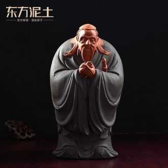 Oriental clay ceramic figure sculpture decoration handicraft furnishing articles study creative teacher's day gifts/Confucius