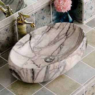 Basin stage basin oval imitation marble ceramic European household toilet stage basin art the pool that wash a face basin that wash a face