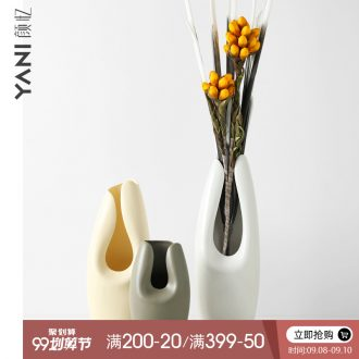 Nordic contemporary and contracted, ceramic vases, furnishing articles sitting room mesa creative decorations dried flower flower flower vase
