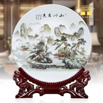 14 inches large ceramics hang dish plate decoration plate sit plate plate decoration creative home furnishing articles arts and crafts