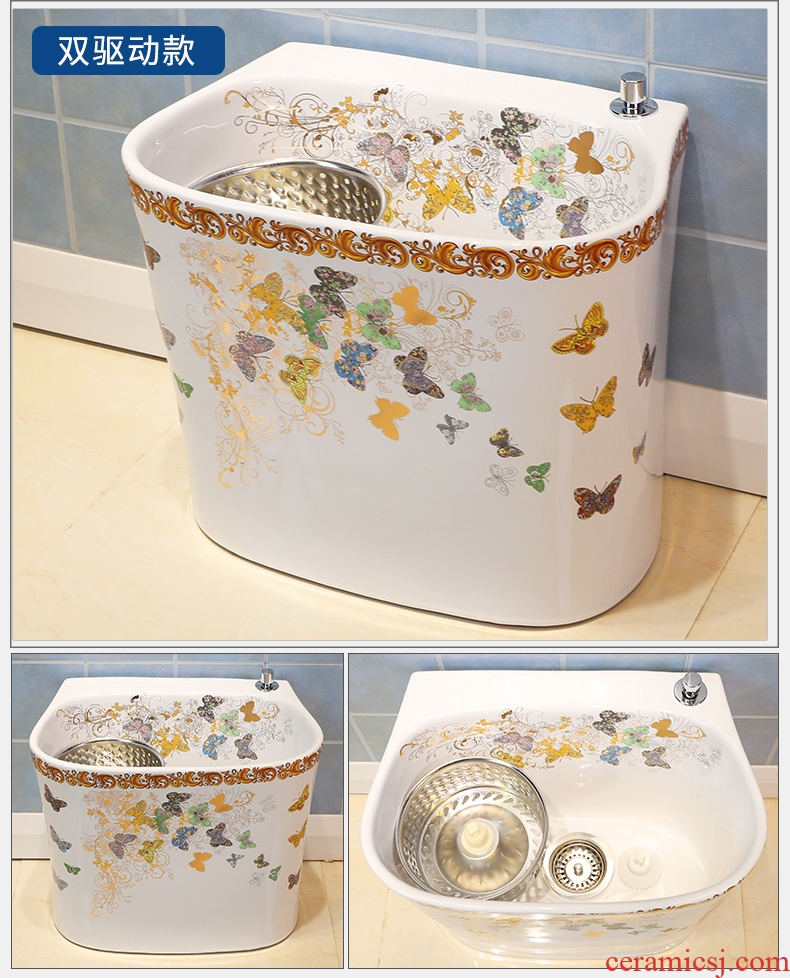Million birds balcony art contracted to wash the mop pool mop pool mop basin bathroom large ceramic mop pool