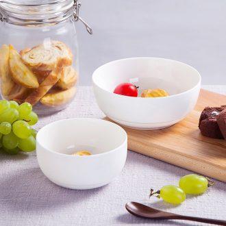 Pure white bone porcelain rice bowls of jingdezhen household ceramics tableware rainbow noodle bowl salad bowl Chinese Korean bowl dessert bowls