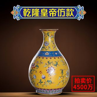 Ning floret bottle sealed kiln furnishing articles the sitting room is blue and white porcelain of jingdezhen ceramics porcelain enamel rich ancient frame home decoration