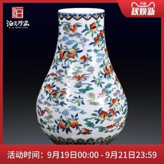 Jingdezhen ceramics imitation qing yongzheng jubilee ShouFuLu Chinese bottle vase sitting room porch home furnishing articles