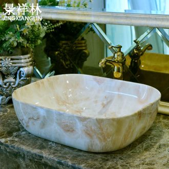 European wind restoring ancient ways basin ceramic lavabo toilet lavatory art square table marble basin that wash a face