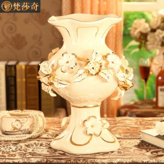 European pomegranate flowers ceramic vase restoring ancient ways the sitting room TV ark large flower adornment example room soft furnishing articles
