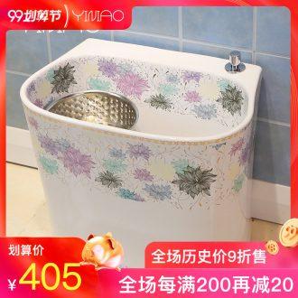 Million birds mop mop bucket floor balcony mop pool toilet ceramics reflecting pool to mop basin sink