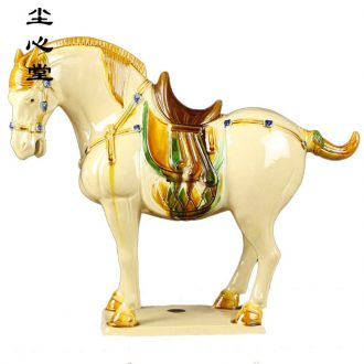 Dust heart tang sancai horse ceramic furnishing articles sitting room TV ark lucky decoration and home decoration arts and crafts