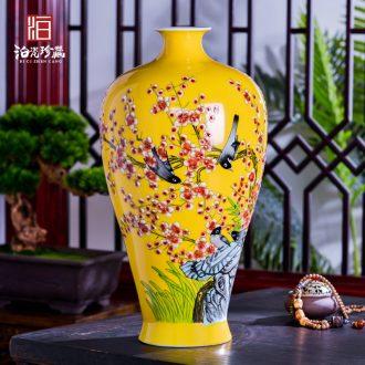 Jingdezhen ceramics vases, flower arrangement sitting room porch decoration of Chinese style household TV ark place wedding gift