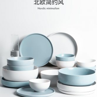 Scandinavian simple dishes suit household new ceramic tableware suit to eat bread and butter dish dish dish dyed deep dish cloud