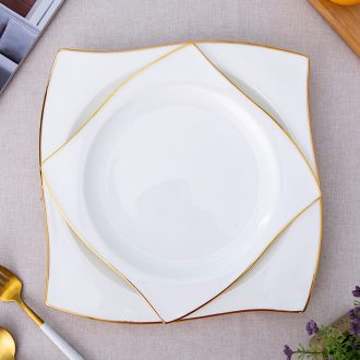 European dish dish dish home ideas of irregular bone porcelain personality inventory center plate ceramic plate beefsteak
