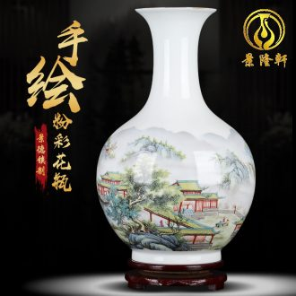 Jingdezhen ceramic peony vases, flower arranging machine sitting room office decorations furnishing articles large porcelain restoring ancient ways