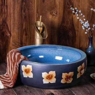 The stage basin of jingdezhen ceramic lavabo restoring ancient ways round Chinese style household art hotel toilet basin sinks