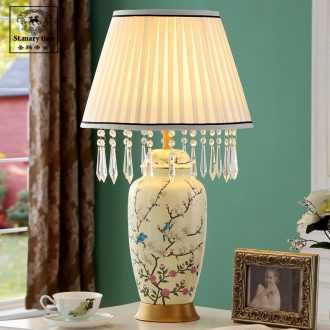 Santa marta white European princess fine ceramic desk lamp room girls warm vase American dressing table lamp