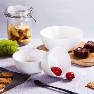 Jingdezhen porcelain tableware of pure bone square Korean household ceramic bowl bowl dish small bowl of rice noodles bowl