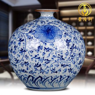Archaize of jingdezhen ceramics kiln hand-painted under glaze color blue and white porcelain vases, antique crafts home furnishing articles