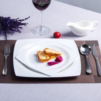 Pure white bone porcelain child creative ceramic flat tray household food dish soup plates deep western food steak plate tableware
