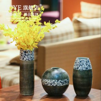 Blue and white porcelain vases, flower arrangement craft ornament porcelain jingdezhen ceramic sitting room place manual creative home outfit