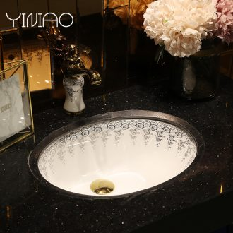 Million birds undercounter lavabo that defend bath ceramic face basin bathroom sinks embedded household oval sink