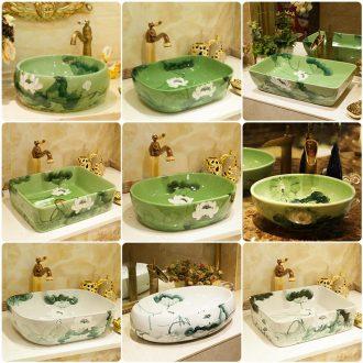 The stage basin basin art ceramic small size on the sink basin bathroom sinks circular single basin of household