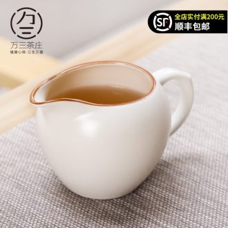 Three thousand tea dehua white porcelain ceramic fair large cup of tea and kung fu tea accessories tea cup sea