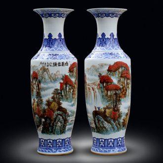 Jingdezhen study of large vase furnishing articles the sitting room porch flower arranging large hotel gift porcelain decoration