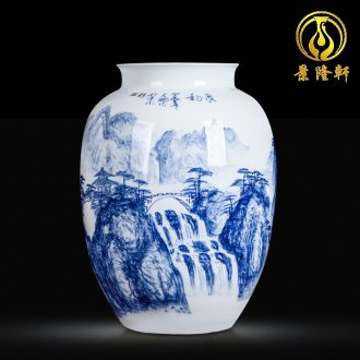 Jingdezhen blue and white ceramics hand-painted vases, flower arranging the sitting room porch ark adornment of Chinese style household furnishing articles